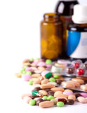 Heap of colorful pills Stock Photo