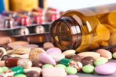Heap of colorful pills Royalty Free Stock Photo