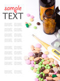 Heap of colorful pills Royalty Free Stock Photography