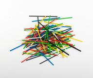 Heap of Colorful Plastic Math Sticks for Learning Mathematic. Heap of colorful plastic math stick for learning mathematic in primary school or counting sticks stock photography