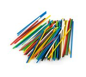 Heap of Colorful Plastic Math Sticks for Learning Mathematic. Heap of colorful plastic math stick for learning mathematic in primary school or counting sticks stock images