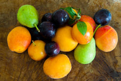 Heap of colorful seasonal fresh fruit Royalty Free Stock Images