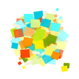 Heap of colorful stickers for your design Stock Image