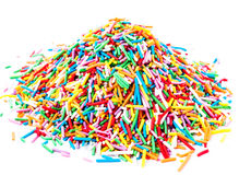 Heap Colorful Sweet   candy sprinkles isolated on white backgrou Royalty Free Stock Photography