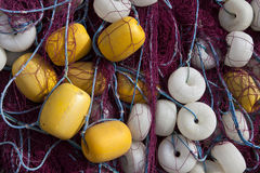 Heap of Commercial Fishing Net. Stock Photo