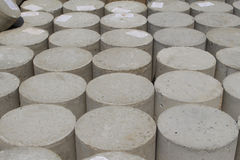 Heap of Concrete cylindrical samples Stock Photo