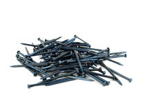 Heap of metal nails Royalty Free Stock Image
