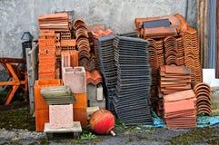 Heap of construction materials Royalty Free Stock Photos