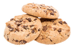 Heap of cookies on white Stock Images
