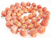 Heap coral beads Stock Images