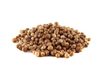 Heap Coriander Seeds isolated on white background Stock Images
