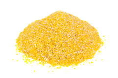 Heap of corn grits Royalty Free Stock Images