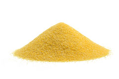 Heap of cornmeal Stock Photos
