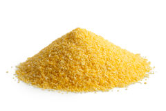 Heap of cornmeal polenta. Stock Photography