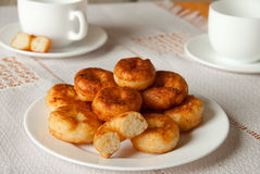 Heap of cottage cheese donuts Royalty Free Stock Photo