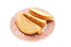 Heap of crackers on a plate Stock Photography