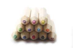 Heap of crayon Stock Photography