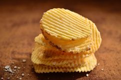 Heap of crisps Stock Images