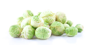 The heap of crispy fresh Brussels sprout Royalty Free Stock Photos