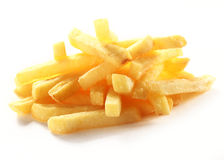 Heap of crispy golden deep fried French fries Stock Image