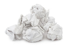 Heap of crumpled paper Royalty Free Stock Image
