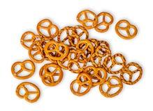 Heap crunchy pretzels with salt Royalty Free Stock Photo