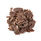 Heap of crushed chocolate Stock Photo