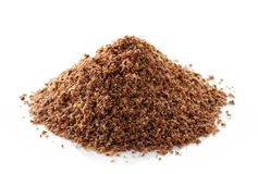 Heap of crushed flax seeds Royalty Free Stock Photography