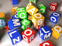 Heap of cubes Stock Image
