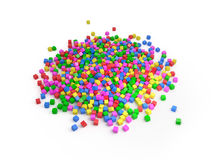 Heap of cubes, 3D Stock Images