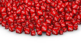 A heap of cubes percent symbol. Stock Photos