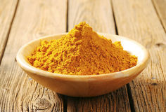 Heap of curry powder Royalty Free Stock Photo