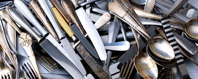 Heap of cutlery Royalty Free Stock Photo