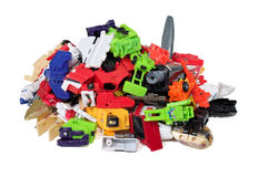 Heap of damaged incomplete toys parts Stock Photography