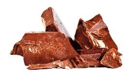 Heap of delicious black chocolate Stock Photos