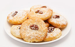Heap of delicious cookies on a plate  Stock Photography