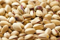 Heap of delicious raw pistachio. Close up heap of delicious raw pistachio Royalty Free Stock Images