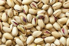 Heap of delicious raw pistachio. Close up heap of delicious raw pistachio Royalty Free Stock Photography