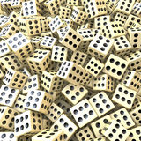 Heap of dice, sure win, perfect game, loaded dice. 3d rendering Royalty Free Stock Photography