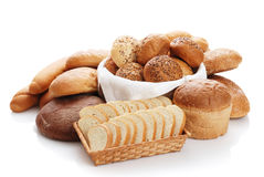 Heap of different bread Stock Image