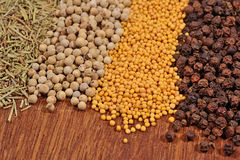 Heap of different dry spices Royalty Free Stock Images