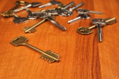 Heap of different keys Royalty Free Stock Photos