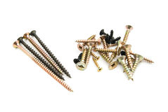 Heap of different screws Stock Photo