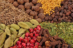 Heap of different spices Royalty Free Stock Image