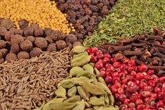 Heap of different spices Royalty Free Stock Photos