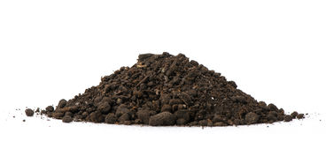 Heap dirt. Isolated on white background Royalty Free Stock Photo