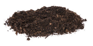 Heap of Dirt isolated on white Royalty Free Stock Images
