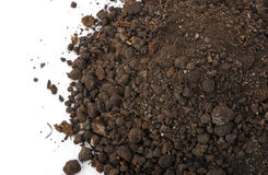 Heap dirt the top view stock images