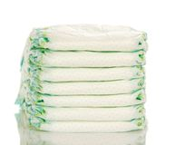 Heap of the disposable diapers Stock Photo