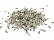 Heap of Dollar Bills Stock Images